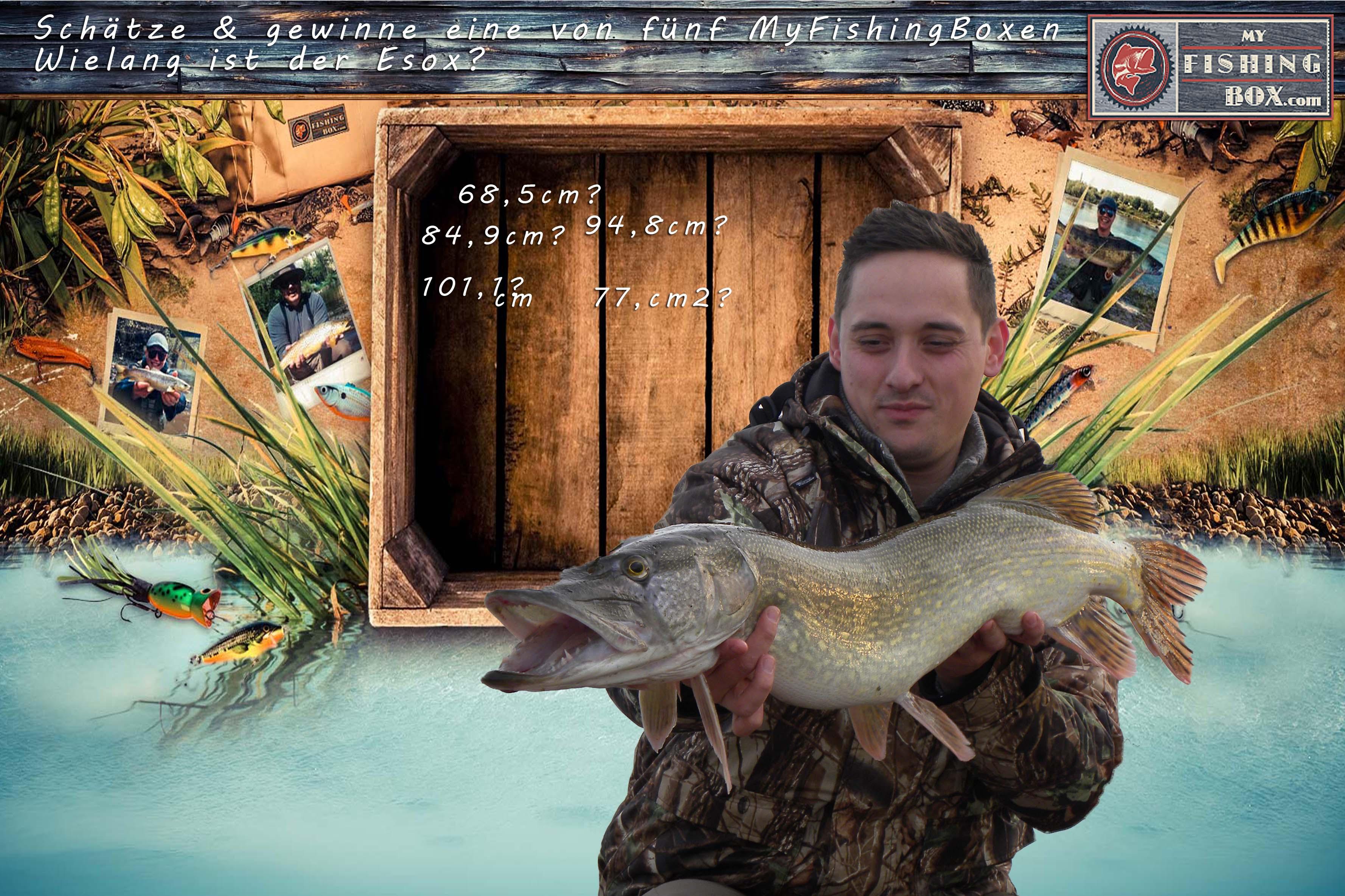 My Fishing Box Gewinnspiel - Schätzt die Länge von dem Hecht